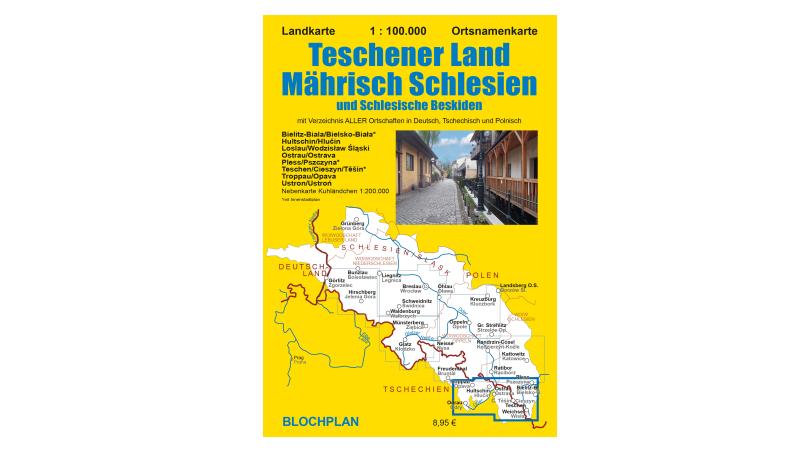 Neue Landkarte Teschener Land/Mährisch Schlesien und Schlesische Beskiden
