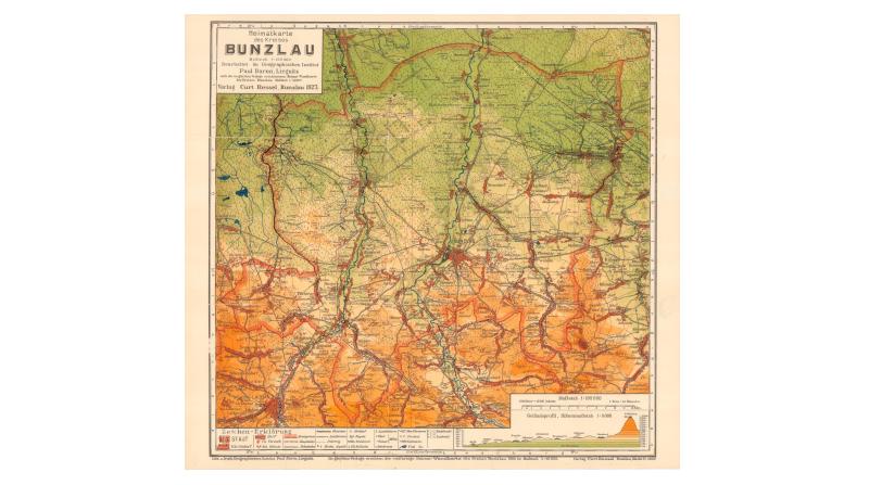 Heimatkarte des Kreises Bunzlau neu aufgelegt
