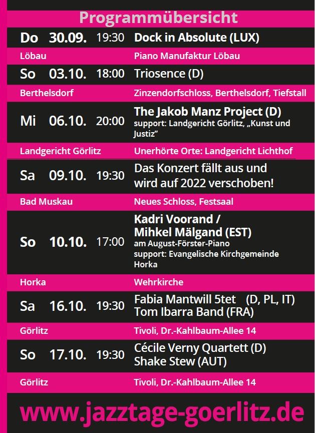Jazztage Görlitz 2021